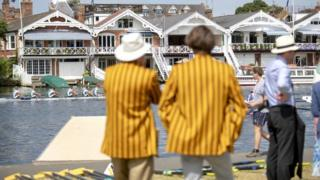 Colourful blazers at the regatta