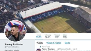 Tommy Robinson Twitter account
