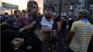 جرحى أثناء الاحتجاجات