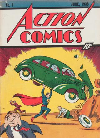 Cover of first Superman comic sold by Heritage Auctions