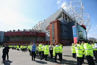 Stewards at Old Trafford