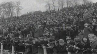 The crowd at Pontypool v Australia in 1966