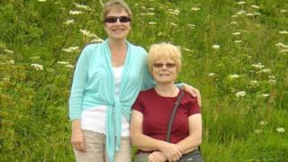 Julie Hill, 51, and her mother Rose, 75
