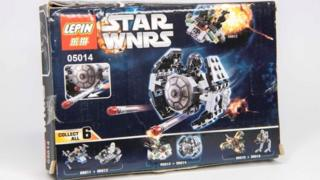 A fake seized Star Wars Lego set
