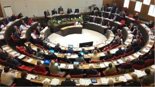 Cornwall Council chamber
