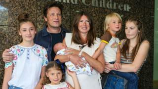 Jamie Oliver and his five kids