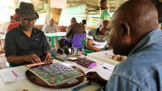 Scrabble players in Abuja, Nigeria - Saturday 25 January 2020