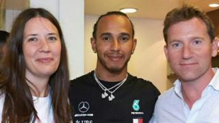 Harry Shaw: Lewis Hamilton meets 'spirit angel' boy's parents