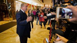 Mr Gore had and 'extremely interesting conversation' with the president-elect, he told reporters at Trump Tower