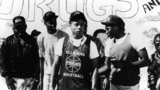 Cuba Gooding Jr. (centre) in a still from Boyz N The Hood