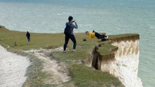 Birling Gap danger warning over crumbling cliff edge photo thumbnail