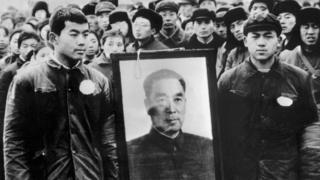 1977年1月,北京民眾紀念周恩來逝世1週年。