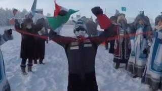 Paolo Venturini completes Oymyakon race, 2019