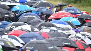 Umbrellas at Royal Portrush