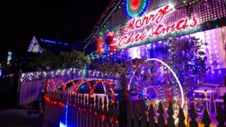 Residents of Avoca St in Sydney are serious about their Christmas lights