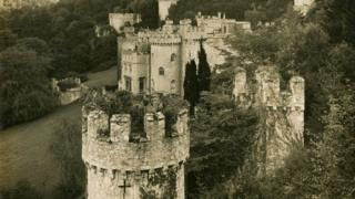 The castle in the 1920s when it was a stately home