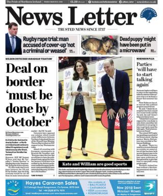 Front page of the News Letter on Friday