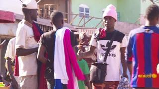 Young Gambians in a street in Banjul