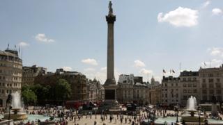 Trafalgar Square stabbing: Man knifed in central London