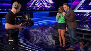 in_pictures Caroline Flack and Olly Murs filming The Xtra Factor