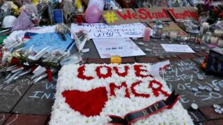 Flowers and messages of condolence left for the victims of the Manchester Arena attack