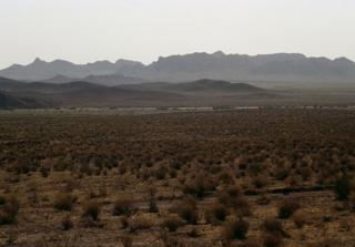 IRAN - APRIL 13: Desert landscape with vegetation, Khorasan, Iran. (Photo by DeAgostini/Getty Images)