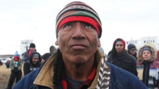 Standing Rock portrait.