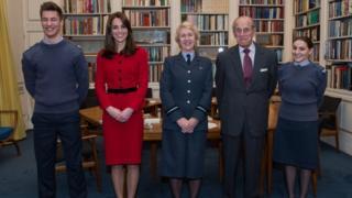 Duchess of Cambridge, Duke of Edinburgh and air cadets