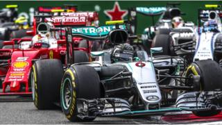 Formula One cars at Italian Grand Prix