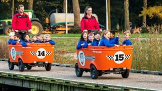 A Stint cart of the type used to transport children in the Netherlands (file pic)