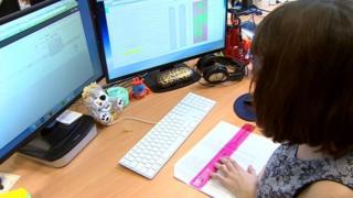 An office worker