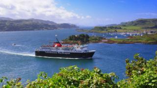 CalMac ferry at Oban