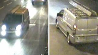 CCTV images of van