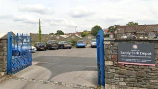 The site of the temporary morgue in Brislington, Bristol