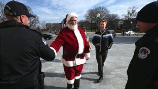 Санта и полиция