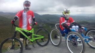 Mountain bike record attempt