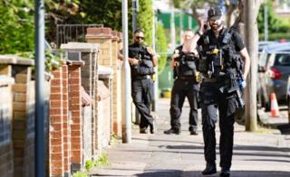 Armed officers in Peterborough