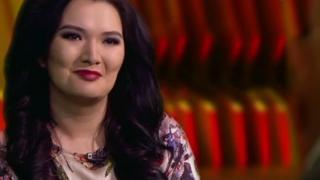 Kazakh newsreader Almira Shaukentayeva