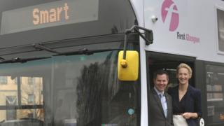 Transport Minister Derek Mackay and CPT in Scotland chairwoman Fiona Kerr