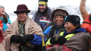 Ladies laughing in Oceti Sakowin Camp.