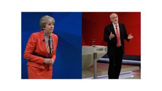 Theresa May iyo Jeremy Corbyn oo dood loo qabtay