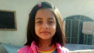 An undated handout photo made available by the Family of seven-years-old Zainab showing her posing for a picture, in Kasur, Pakistan, Issued 10 January 2018.