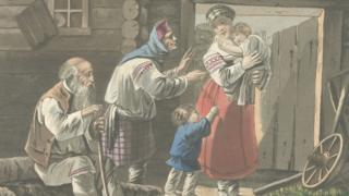 Семья русских крестьян (1820 год)