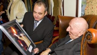 Bernard Baldwin with author Gary Marsh