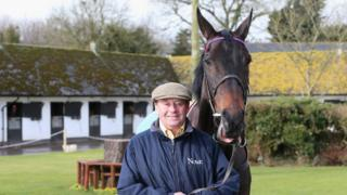 Nicky Henderson with champion chaser Sprinter Sacre