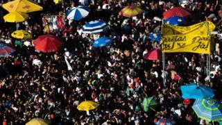 Protesto a favor das eleições diretas em São Paulo
