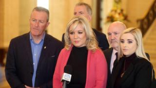 Michelle O'Neill and Sinn Féin colleagues