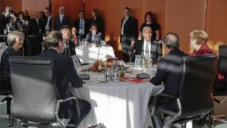 Barack Obama with European leaders in Berlin