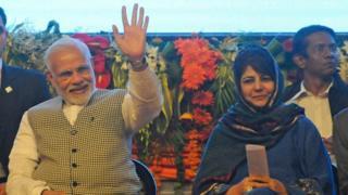 Narendra Modi and Mehbooba Mufti