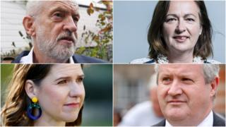 Jeremy Corbyn, Jo Swinson, Ian Blackford, Liz Saville Roberts